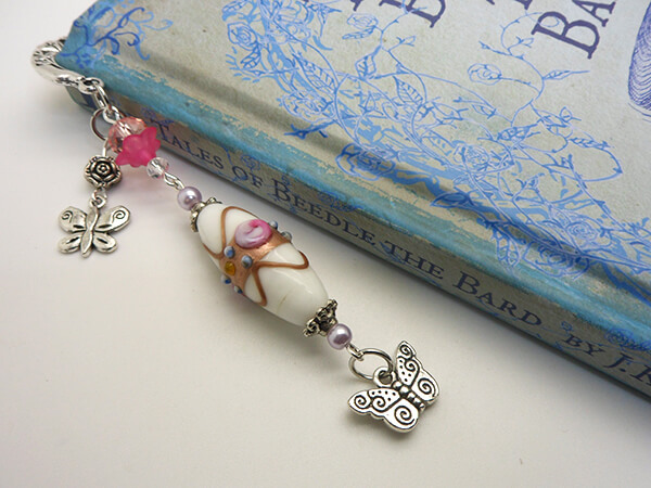 Butterfly Beaded Bookmark