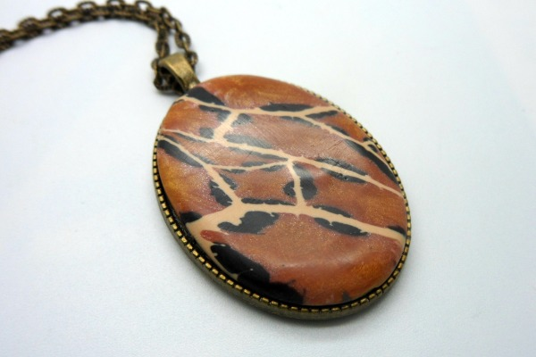 Animal Print Long Pendant