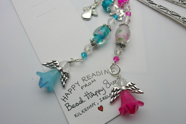 Angel Charm Beaded Bookmark