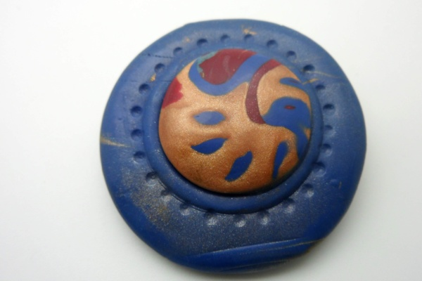 Denim Blue Brooch