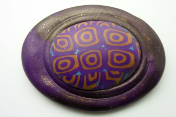 Purple Swirl Brooch